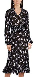 By Ti Mo byTiMo Women's Smocked-Belt Floral Georgette Midi-Dress