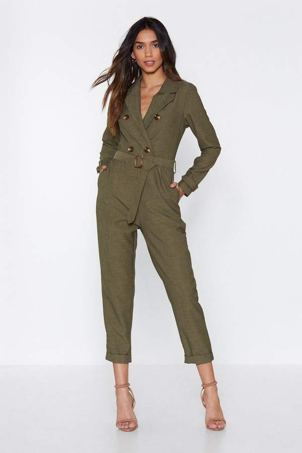 Pull Yourself Together Belted Jumpsuit