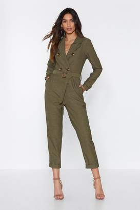 Nasty Gal Pull Yourself Together Belted Jumpsuit