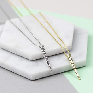 Nell Little Minimal Hammered Spike Necklace