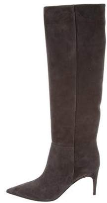 Sergio Rossi Cindy Suede Knee-High Boots w/ Tags