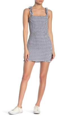 EMORY PARK Smocked Gingham Print Dress