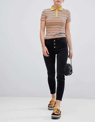 Bershka 4 button skinny jean