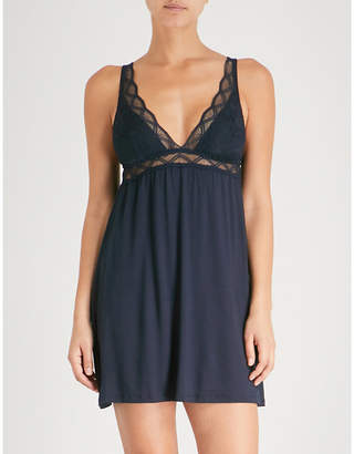 Eberjey Georgina jersey and lace chemise