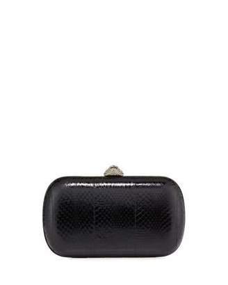 Gucci Broadway Snakeskin Butterfly Clutch Bag