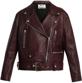 Acne Studios Merlyn oversized leather biker jacket