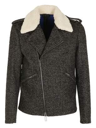 Paolo Pecora Fur Collar Biker Jacket