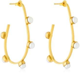 Pearled Hoop Earrings