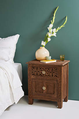 Anthropologie Carved Fuji Nightstand