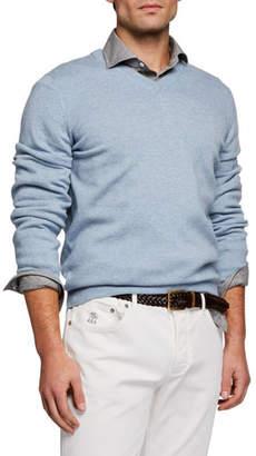 Brunello Cucinelli Men's Cashmere V-Neck Sweater