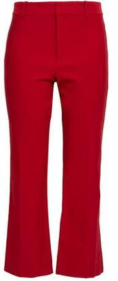 Derek Lam 10 Crosby Cropped Stretch-Cotton Flared Pants