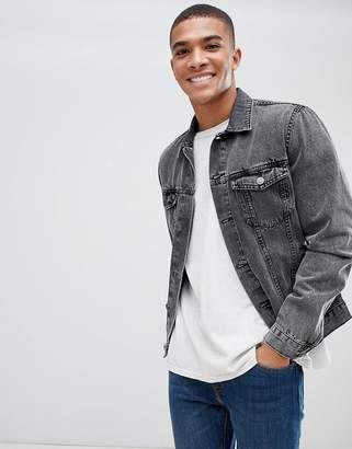 New Look denim jacket in grey wash