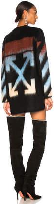 Off-White Off White Diag Intarsia Mohair Sweater