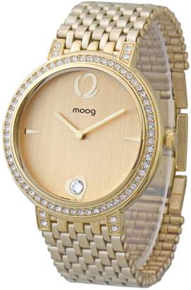 Mother of Pearl Moog Paris Caresse Women's Watch with Dial, Gold Stainless Steel Strap & Swarovski Elements - M46184-003
