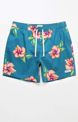 """Modern Amusement Hawaii Flower 17"""" Swim Trunks"""