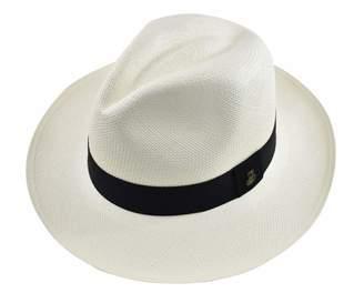 Ecua-Andino Hats Original Panama Hat - Classic Fedora - Black Band -  Toquilla Straw 469aabecafb