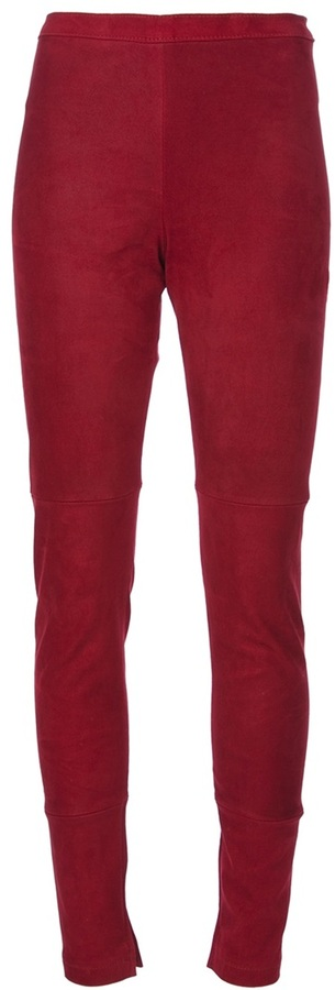 Utzon Skinny suede trouser