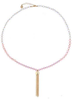 Liz Claiborne Womens Pink Pendant Necklace
