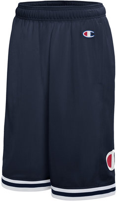"Champion Men's Logo Mesh 11"" Basketball Shorts $40 thestylecure.com"