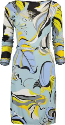 Emilio Pucci Marilyn Belted Jersey Dress