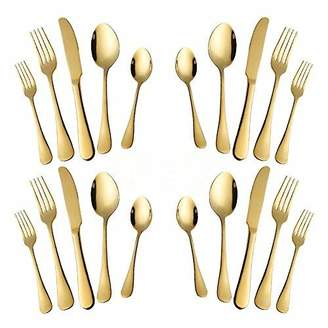 Woaiwo-q 20-Piece Stainless Steel Flatware Silverware Set