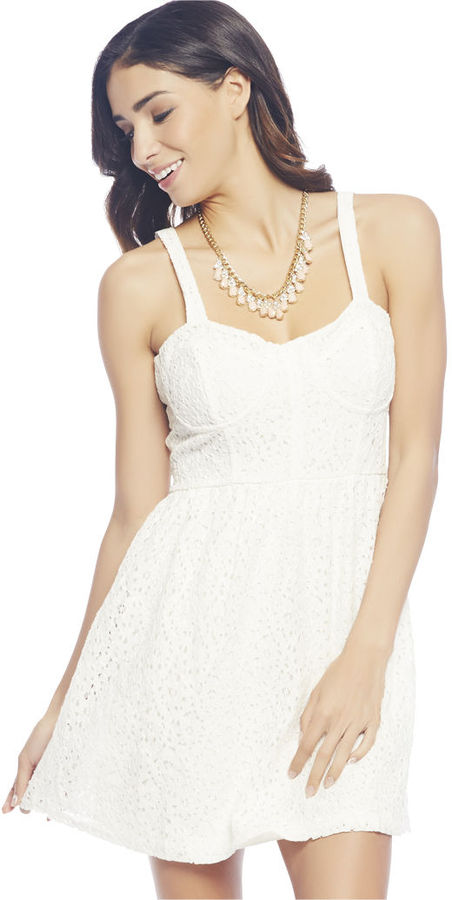 Wet Seal Floral White Dress