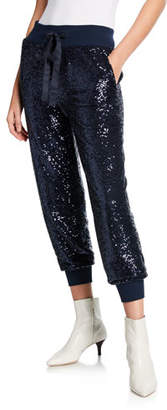 Cinq à Sept Giles Sequined Pull-On Jogger Pants