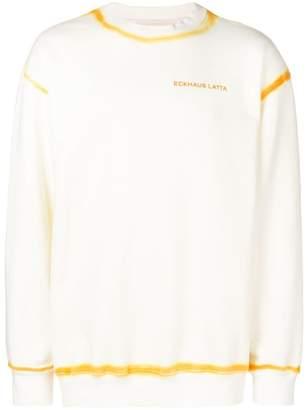 Eckhaus Latta yellow trim sweatshirt