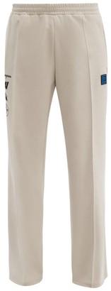 Off-White Off White Incompiuto Print Cotton Blend Track Pants - Mens - Black Beige