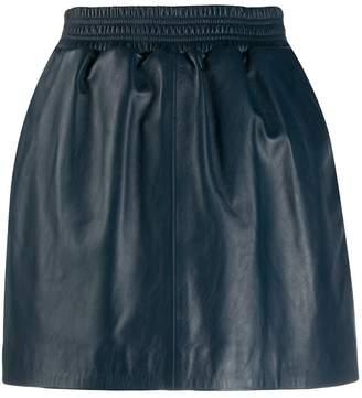 Arma leather-look mini skirt