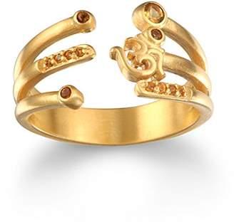 Satya Jewelry Citrine Plate Om Adjustable Ring