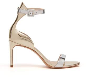 Sophia Webster Nicole Metallic Leather Sandals - Womens - Silver Gold