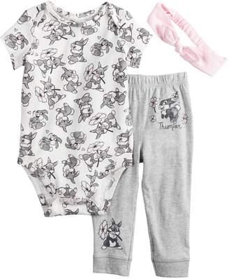 186ef822d Disneyjumping Beans Disney's Bambi Baby Girl Thumper Bodysuit, Pants &  Headband Set by Jumping Beans