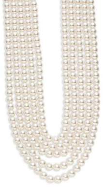 Oscar de la Renta Multi-Row White Faux Pearl Necklace