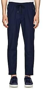 Leon Aime Dore Men's Peach Skin Cotton-Blend Pants - Navy