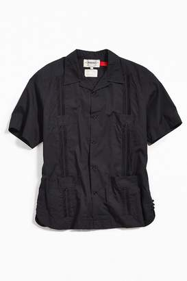 Monitaly Guayabera Poplin Short Sleeve Button-Down Shirt