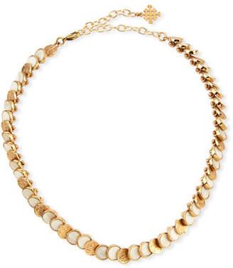 Akola Small Circle Choker Necklace, White