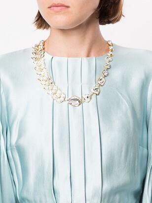 Shourouk leaf necklace
