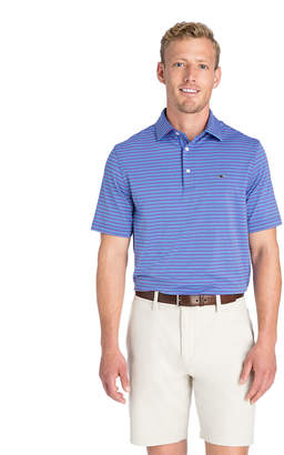 Vineyard Vines Four-Color Feeder Stripe Sankaty Performance Polo