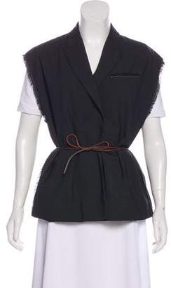 Brunello Cucinelli Monili-Trimmed Wool Vest w/ Tags