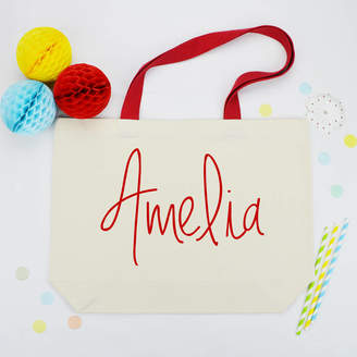 Andrea Fays Personalised Name Canvas Bag