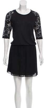 Paul & Joe Sister Lace Accent Drop Waist Dress