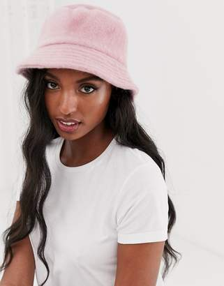 Asos Design DESIGN Fluffy Bucket Hat
