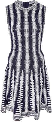 Paule Ka Sleeveless Jacquard Knit Dress