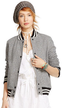 Ralph Lauren Denim & Supply French Terry Baseball Jacket $165 thestylecure.com