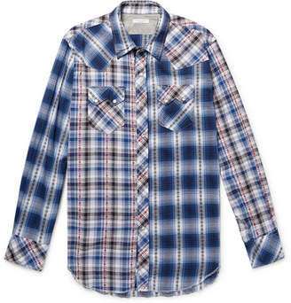 Engineered Garments Embroidered Checked Cotton Shirt