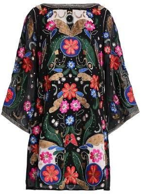 Alice + Olivia Alice+olivia Fantasy Mini Dress With Kimono Sleeves