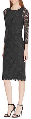 Lauren Ralph Lauren Slim-Fit Lace Midi Dress