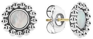Lagos Sterling Silver Maya Mother-Of-Pearl Circle Earrings