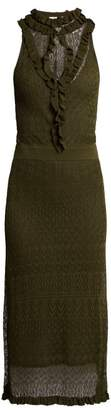 Altuzarra Butterfield Pointelle Knit Dress - Womens - Dark Green
